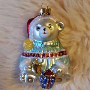 Other - Glass Teddy Bear Ornament